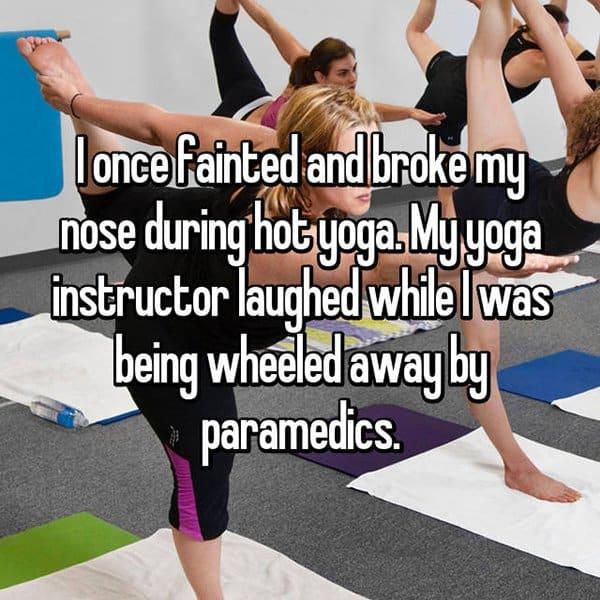 Embarrassing Yoga Experiences broke my nose