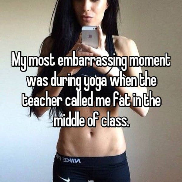 Embarrassing Yoga Experiences called me fat