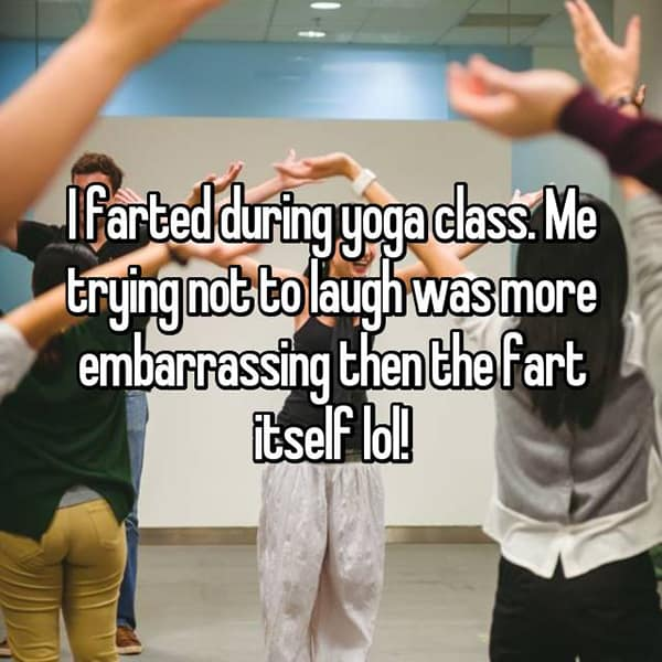Embarrassing Yoga Experiences fart