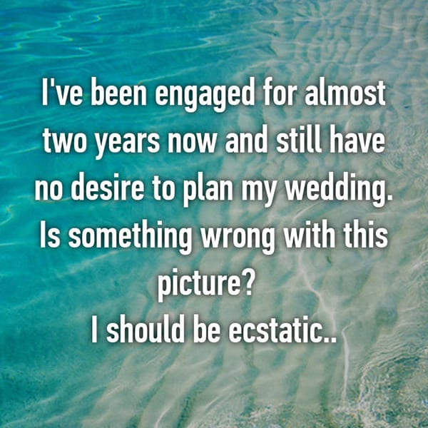 Engaged Forever No Wedding wrong with the picture