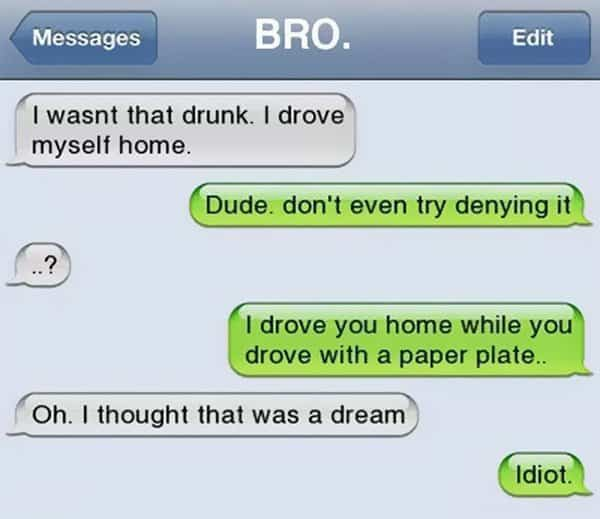 Funny Drunk Texts paper plates  sc 1 st  Awesome Inventions & 15 Funny Drunk Texts People Have Sent Whilst Intoxicated