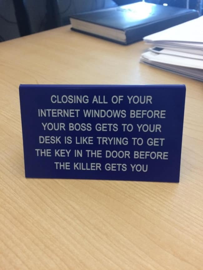 Funny Office Employees closing your windows