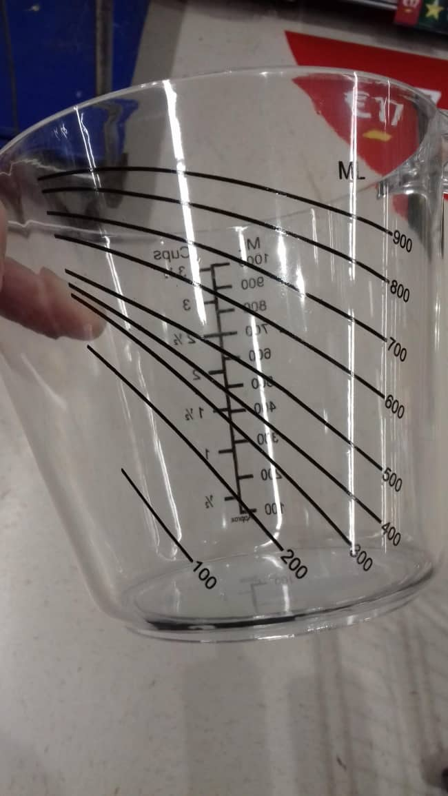 Impressive Inventions measuring cup inverted