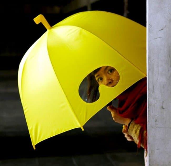 Impressive Inventions umbrella peep hole
