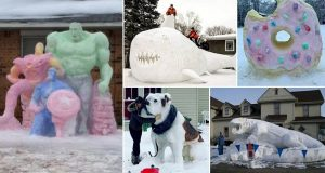 Incredible Snow Sculptures That'll Make Your Snowman Look Lame In Comparison