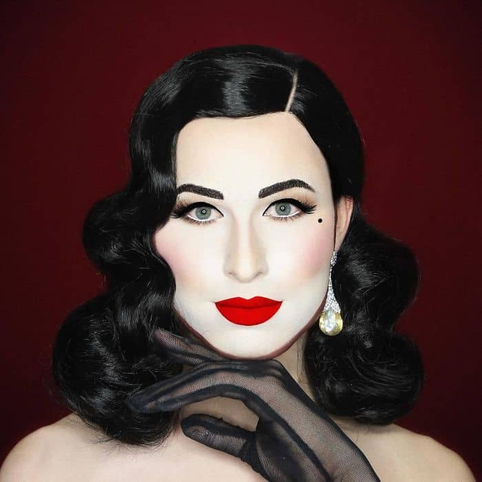 Make Up Artist Can Transform Into Any Celebrity dita von tease