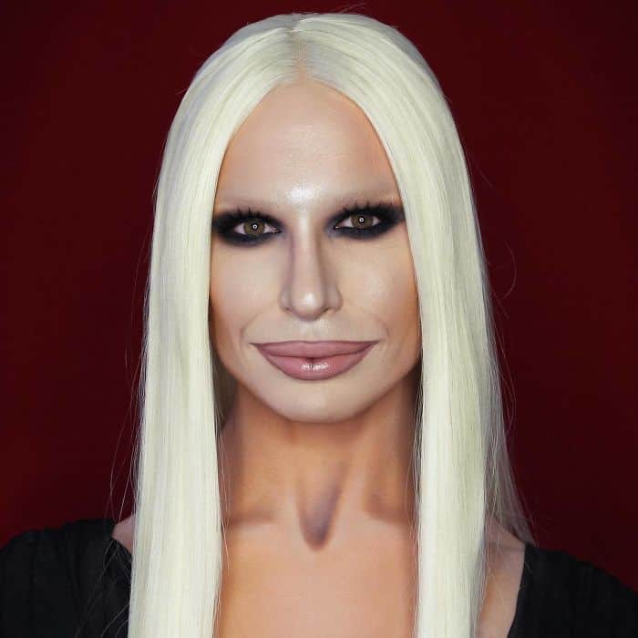 Make Up Artist Can Transform Into Any Celebrity donatella versace