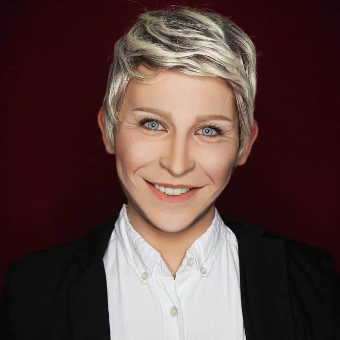 Make Up Artist Can Transform Into Any Celebrity ellen
