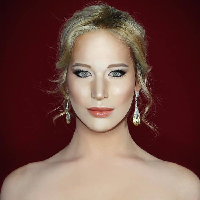 Make Up Artist Can Transform Into Any Celebrity jennifer lawrence