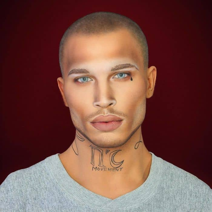 Make Up Artist Can Transform Into Any Celebrity jeremy meeks