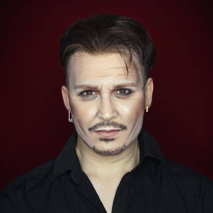 Make Up Artist Can Transform Into Any Celebrity jonny depp
