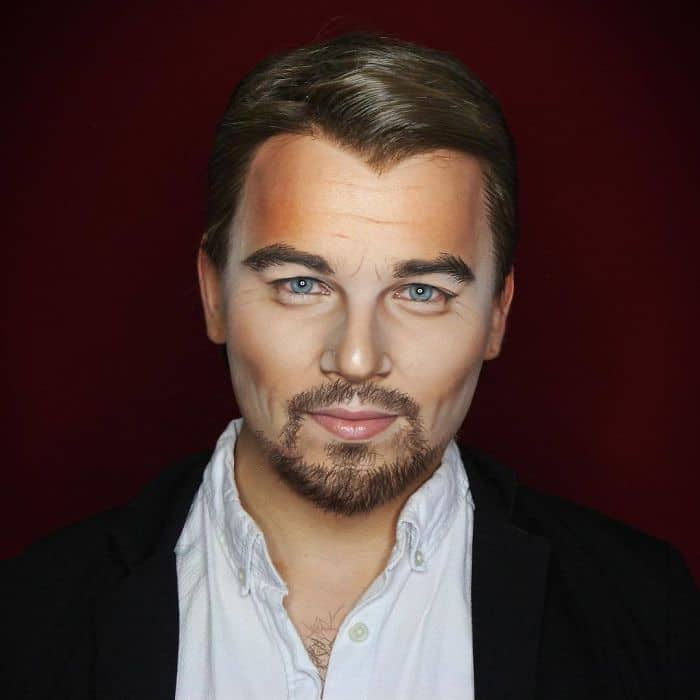 Make Up Artist Can Transform Into Any Celebrity leonardo dicaprio