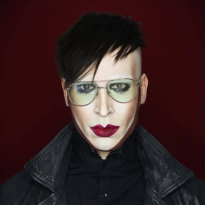 Make Up Artist Can Transform Into Any Celebrity marilyn manson