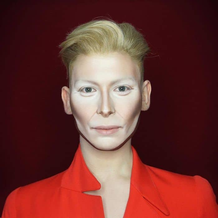 Make Up Artist Can Transform Into Any Celebrity tilda swinton