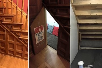 Mom Turns Cupboard Under The Stairs Into Awesome Harry Potter-Themed Room For Her Sons