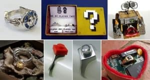Movie, Book And Computer Game Themed Engagement Rings And Boxes