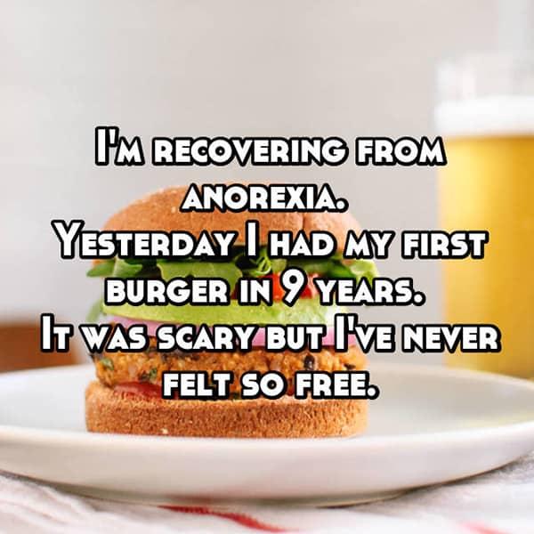 People Battling Eating Disorders burger