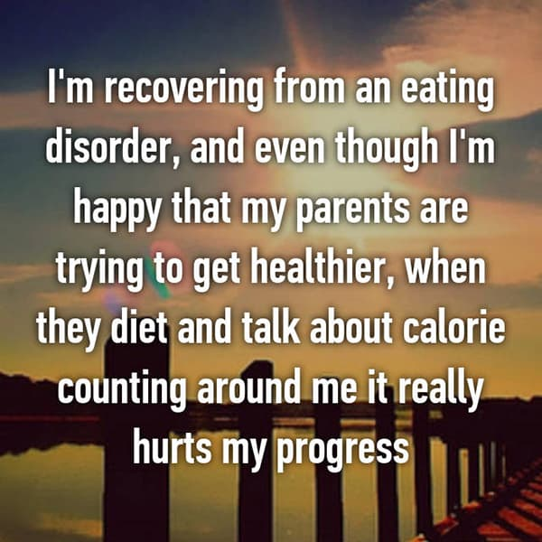 People Battling Eating Disorders counting