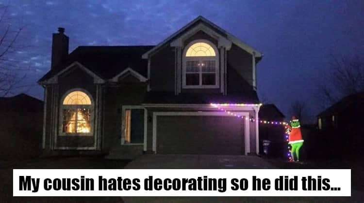 Times People Were Too Lazy To Decorate For Christmas