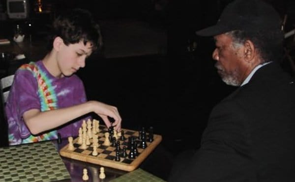 Pics Or It Didn't Happen chess with morgan freeman