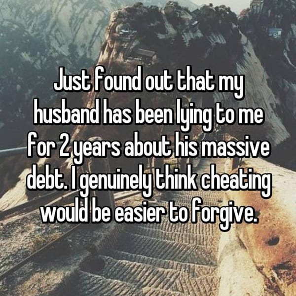 Shocking Lies Told By Husbands debt