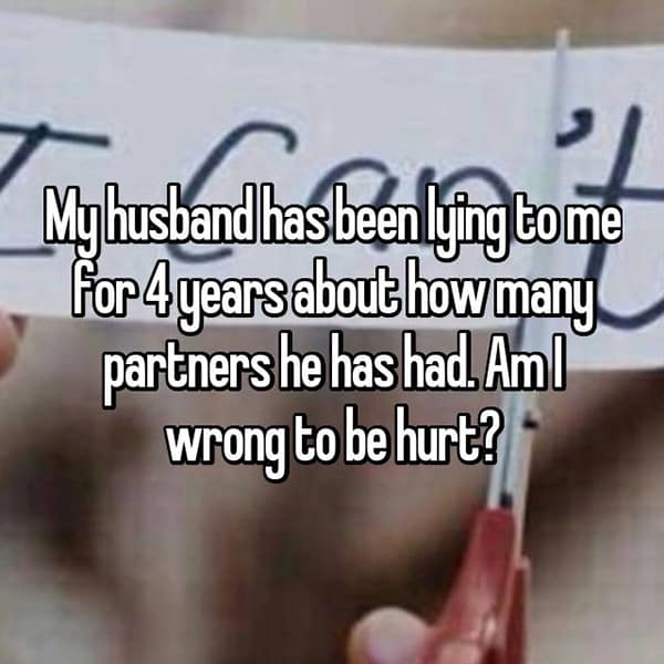 Shocking Lies Told By Husbands how many partners