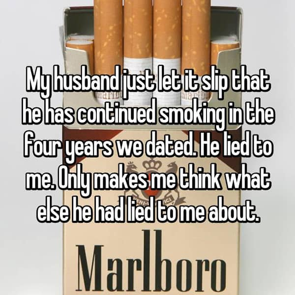 Shocking Lies Told By Husbands smoking