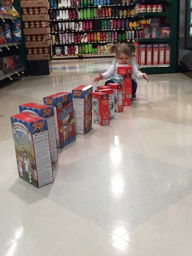 The Joys Of Shopping With Kids cereal box train