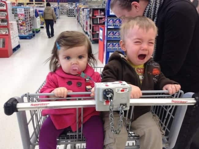 The Joys Of Shopping With Kids crying baby