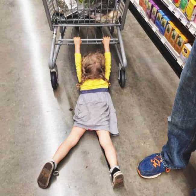 The Joys Of Shopping With Kids dragging across floor