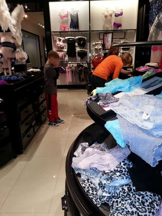 The Joys Of Shopping With Kids head in hands