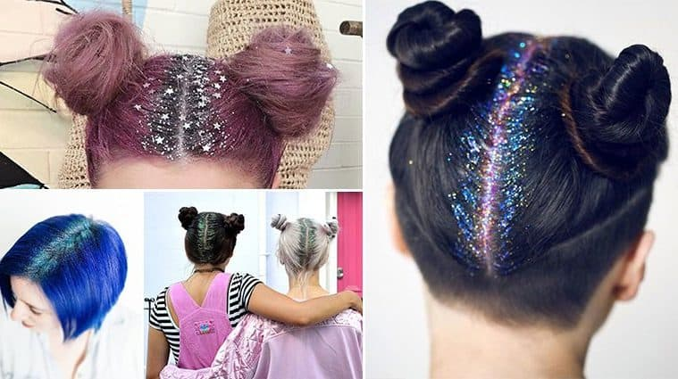 The Latest Hair Craze Looks Magical With These Glitter Roots