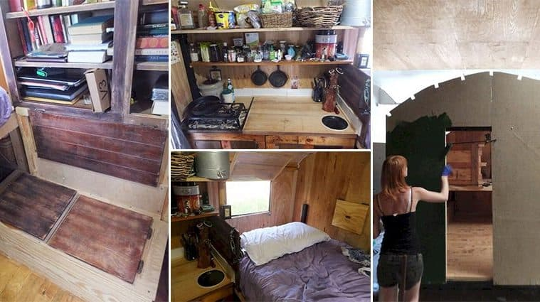 This Female DIY Champion Builds Home For Just $2000 And Here's How You Can Too