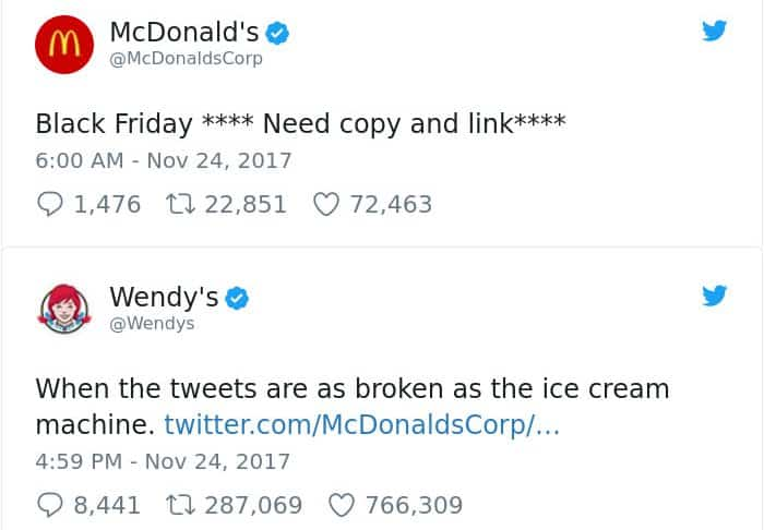 Twitter Roasts By Wendy's copy and link