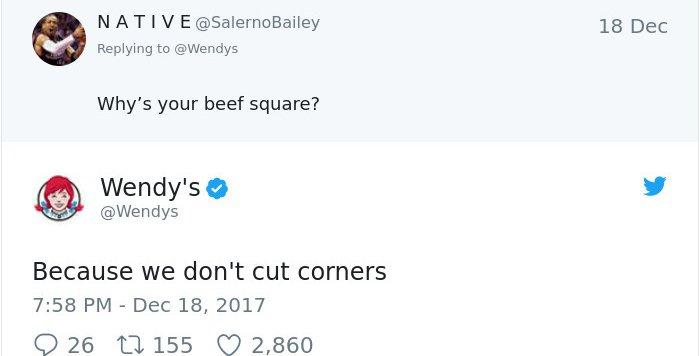 Twitter Roasts By Wendy's cut corners