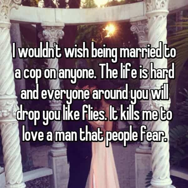 What It's Like To Be The Wife Of A Cop love a man that people fear