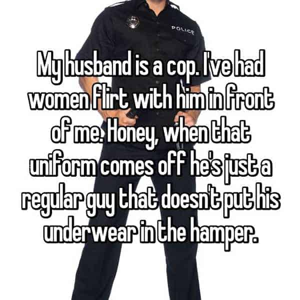 What It's Like To Be The Wife Of A Cop women flirt