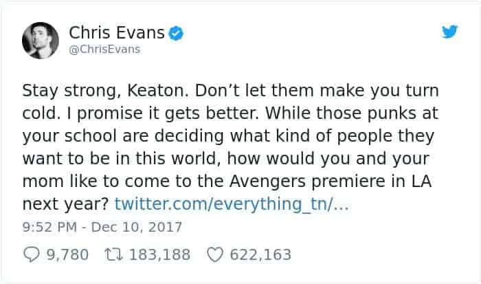 boy-cries-due-to-nasty-bullies-keaton-jones chris evans