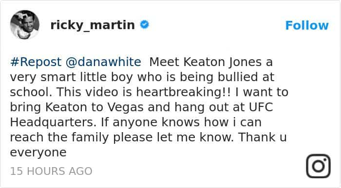 boy-cries-due-to-nasty-bullies-keaton-jones ricky martin