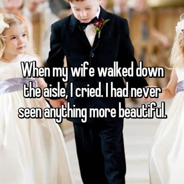Grooms Share The Thoughts They Had When Seeing Their