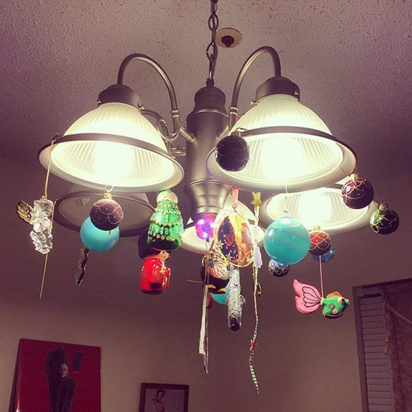 ceiling-light-with-christmas-ornaments