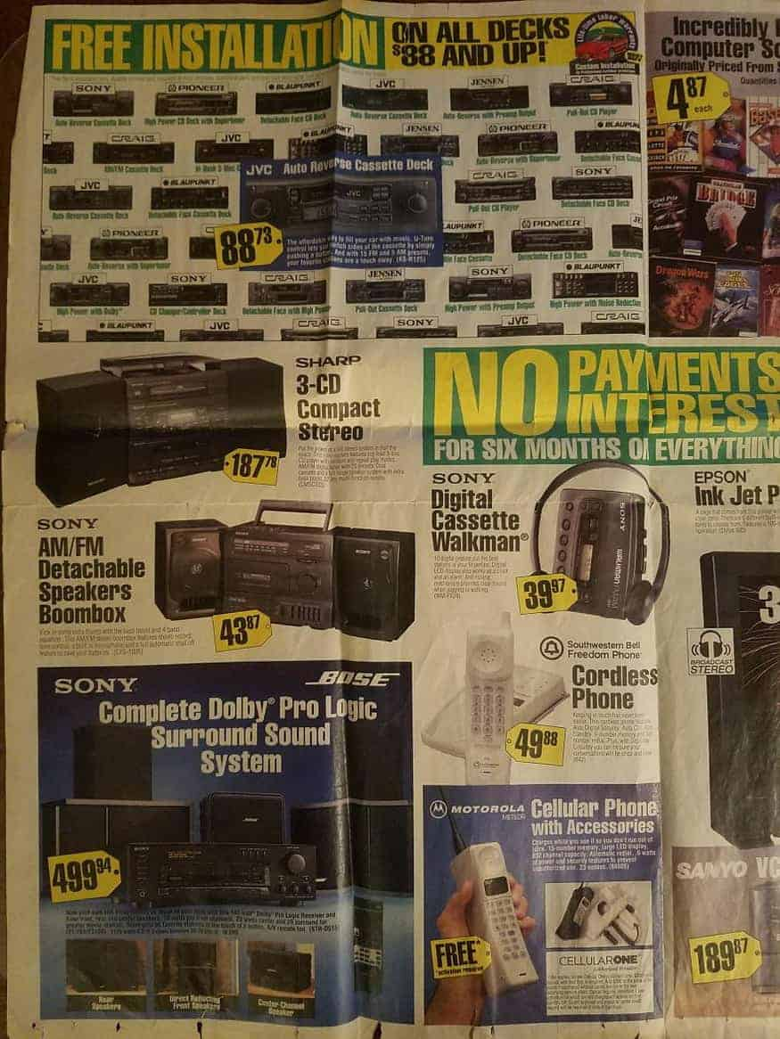 Best Buy Flyer From 1994 Show The Hottest Technology From