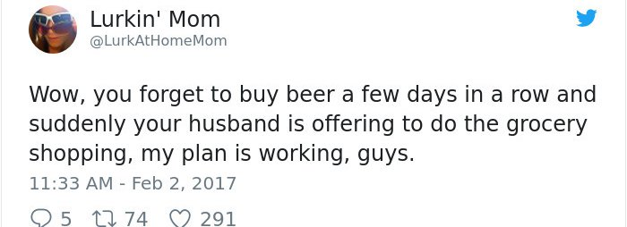funny-tweets-about-marriage forget to buy beer