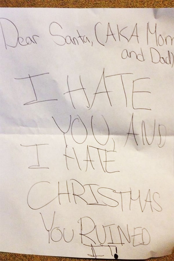 letters to santa i hate you