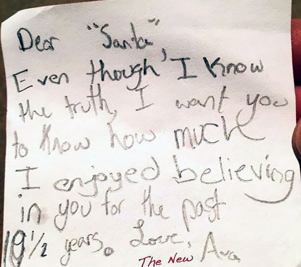 letters to santa i know the truth