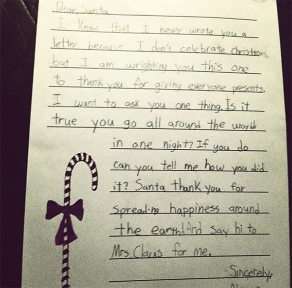 letters to santa in one night