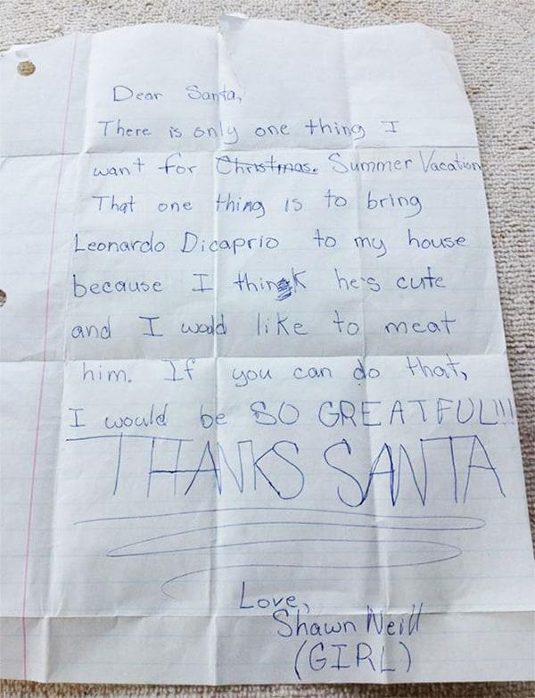 letters to santa leo dicaprio