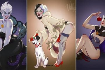 Andrew Tarusov Re-Imagines Female Disney Villains As Pin Up Girls