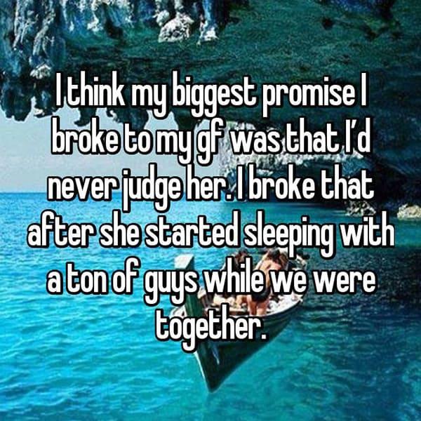 Betrayals And Broken Promises never judge