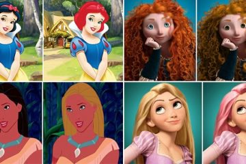 Disney Princesses Get An Interesting Hair And Eye Color Makeover